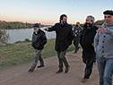 Ministros de Transporte y Obras Públicas, Luis Alberto Heber, y de Turismo, Germán Cardoso, visitaron este jueves 30 la localidad de La Charqueada