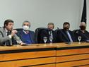 Presidente de la Asociación Uruguaya de Fútbol, Ignacio Alonso, haciendo uso de la palabra