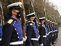 Acto de homenaje a los mártires de la Aviación Militar, en el panteón de la Fuerza Aérea en el Cementerio del Norte