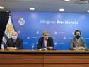 Director del Centro Médico Deportivo, José Veloso, secretario nacional del Deporte, Sebastián Bauzá, subsecretario, Pablo Ferrari, y Ricardo Vairo