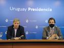 Secretario nacional del Deporte, Sebastián Bauzá, haciendo uso de la palabra