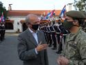 Ministro de Defensa Nacional, Javier García, visitó el Batallón de Blandengues