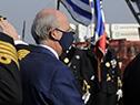 Llegada del ministro de Defensa, Javier García a la conmemoración del 202.° Aniversario de las Fuerzas del Mar