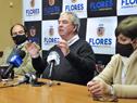 Conferencia de prensa encabezada por el ministro Luis Alberto Heber