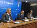 Ministro del Interior, Jorge Larrañaga, haciendo uso de la palabra