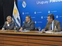 Secretario de Presidencia de la República, Álvaro Delgado, haciendo uso de la palabra