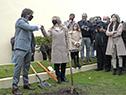 En el predio original donde se firmó la declaratoria hace 195 años, Luis Lacalle Pou plantó un ceibo y descubrió una placa
