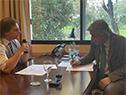 Presidente Luis Lacalle Pou reunido con el canciller, Francisco Bustillo
