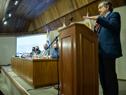 Ministro de Ganadería, Agricultura y Pesca, Carlos María Uriarte, durante el lanzamiento de Procarne, realizado en Ministerio de Relaciones Exteriores