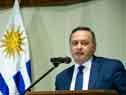 Secretario de Presidencia de la República, Álvaro Delgado, durante el lanzamiento de Procarnes, realizado en el Ministerio de Relaciones Exteriores