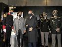 Presidente Lacalle Pou en acto de reapertura del Mausoleo al General José Artigas