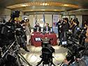 Luis Lacalle Pou y Álvaro Delgado en conferencia de prensa
