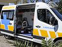 Ambulancia que fue donada a la policlínica de Lascano