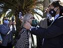 Presidente Lacalle Pou es recibido por fuerzas vivas de Lascano