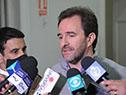 Ministro de Turismo, Germán Cardoso, dialoga con la prensa