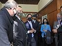 Presidente Luis Lacalle Pou y ministro Carlos María Uriarte, reunidos con los representantes de la Asociación Rural del Uruguay