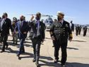 Lacalle Pou, en acto de entrega de un helicóptero para patrullaje naval, traslado sanitario y cuidado ambiental