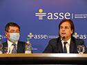 Presidente Lacalle Pou y autoridades en lanzamiento del Plan Nacional de Salud Bucal