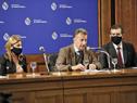 Ministro de Salud Pública, Daniel Salinas, encabezó conferencia de prensa