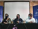 Marcelo Sosa, Alma Galup, Álvaro Delgado, Leonardo Cipriani e Ignacio Ascione