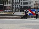 Presidente Luis Lacalle Pou encabezó colocación de ofrenda floral al pie del monumento al general José Artigas