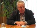 Ministro de Transporte y Obras Públicas, Luis Alberto Heber, haciendo uso de la palabra