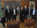 Autoridades luego de finalizada la suscripción del acuerdo