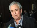 Ministro de Transporte y Obras Públicas, Luis Alberto Heber, realizando declaraciones a la prensa