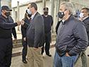 Ministros de Desarrollo Social, Pablo Bartol, y del Interior, Jorge Larrañaga, llegan al INR, unidad n.° 4