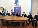 Autoridades en inauguración de una oficina del Mides en el Comcar