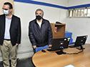 Jorge Larrañaga y Pablo Bartol visitan oficina del Mides en el Comcar