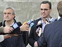 Jorge Larrañaga y Pablo Bartol dialogan con la prensa
