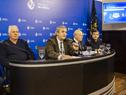 Ministro del Interior, Jorge Larrañaga, encabezó conferencia de prensa sobre el operativo de la Policía para las elecciones departamentales