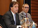 Presidente Luis Lacalle Pou y director del INE, Diego Aboal