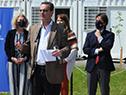 Presidente de la República, Luis Lacalle Pou, encabezó la inauguración, junto con el ministro Pablo Bartol