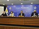 """Enrique Macías, Fabiana Conti, Sergio Rico y Gerardo Sotelo en presentación de campaña de comunicación """"Prepararse hace la diferencia"""""""