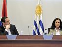 Ministra de Economía y Finanzas, Azucena Arbeleche y Hernán Bonilla, titular de la Asesoría Macroeconómica del MEF