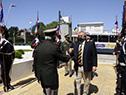 Llegada del ministro del ministro del Interior, Jorge Larrañaga, al aniversario del Estado Mayor de la Defensa