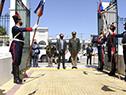 Llegada del presidente de la República, Luis Lacalle Pou, al aniversario del Estado Mayor de la Defensa