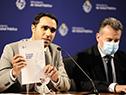 Subsecretario, José Luis Satdjian y el ministros de Salud, Daniel Salinas en conmemoración del Día Mundial del Accidente Cerebrovascular