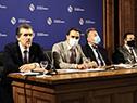 Autoridades en conmemoración del Día Mundial del Accidente Cerebrovascular