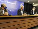 Conferencia de prensa brindada por Pablo Mieres, Rodolfo Saldain e Isaac Alfie