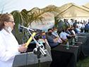 Acto de inauguración de obras de electrificación en Tacuarembó