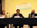 Autoridades en la presentación de la campaña denominada Poné tu mejor energía en la eficiencia