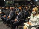 Autoridades presentes en conmemoración de los 82 años de la Noche de los Cristales Rotos