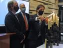 Presidente de la República, Luis Lacalle Pou, participó de la conmemoración de los 82 años de la Noche de los Cristales Rotos