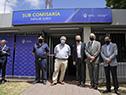 Efectivos policiales en inauguración de subcomisaría en Empalme Olmos