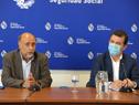 Ministro de Trabajo y Seguridad Social, Pablo Mieres, e inspector general de Trabajo, Tomás Teijeiro