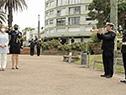 Llegada de la vicepresidenta Beatriz Argimón a la plaza de la Armada