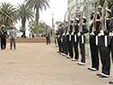 Presidente de la República, Luis Lacalle Pou llega a la plaza de la Armada